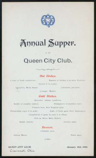 Queen city menu